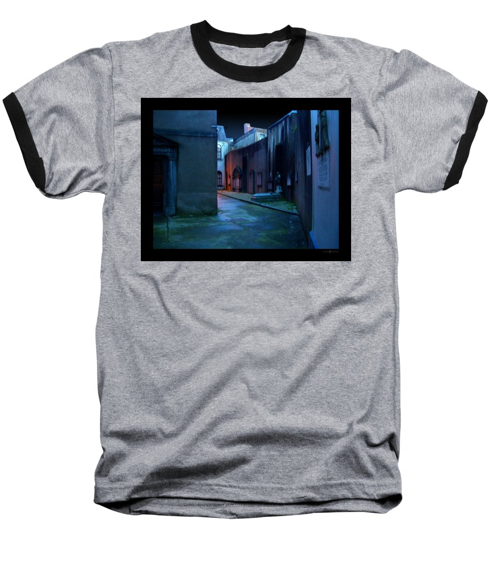 Waterford Baseball T-Shirt featuring the photograph Waterford Alley by Tim Nyberg