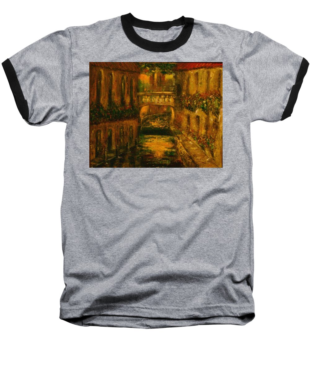 Landscape Baseball T-Shirt featuring the painting Waters Of Europe by Stephen King