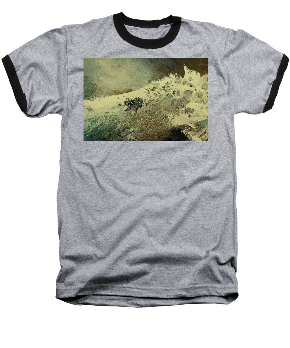 Sea Baseball T-Shirt featuring the painting Wave by Pol Ledent