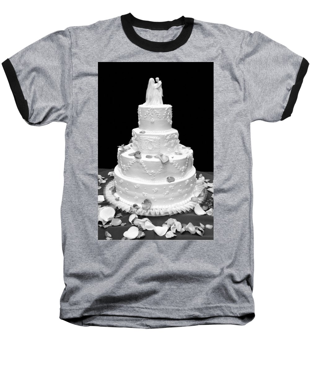 Wedding Baseball T-Shirt featuring the photograph Wedding Cake by Marilyn Hunt