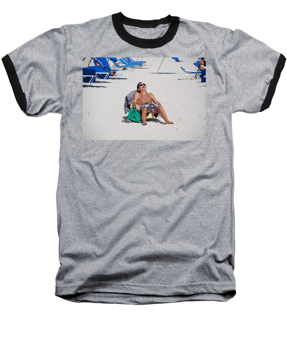 Beach Baseball T-Shirt featuring the photograph Weekend At Bernies by Rob Hans
