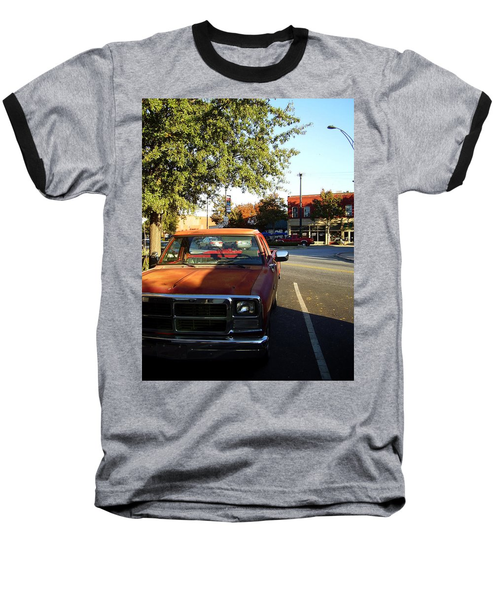 West End Baseball T-Shirt featuring the photograph West End by Flavia Westerwelle