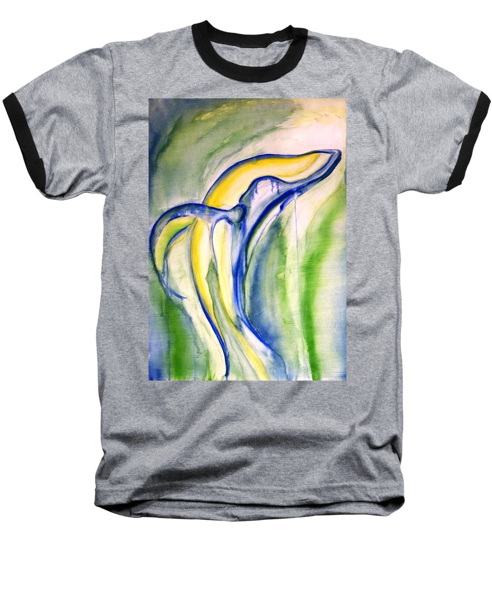 Watercolor Baseball T-Shirt featuring the painting Whale by Sheridan Furrer