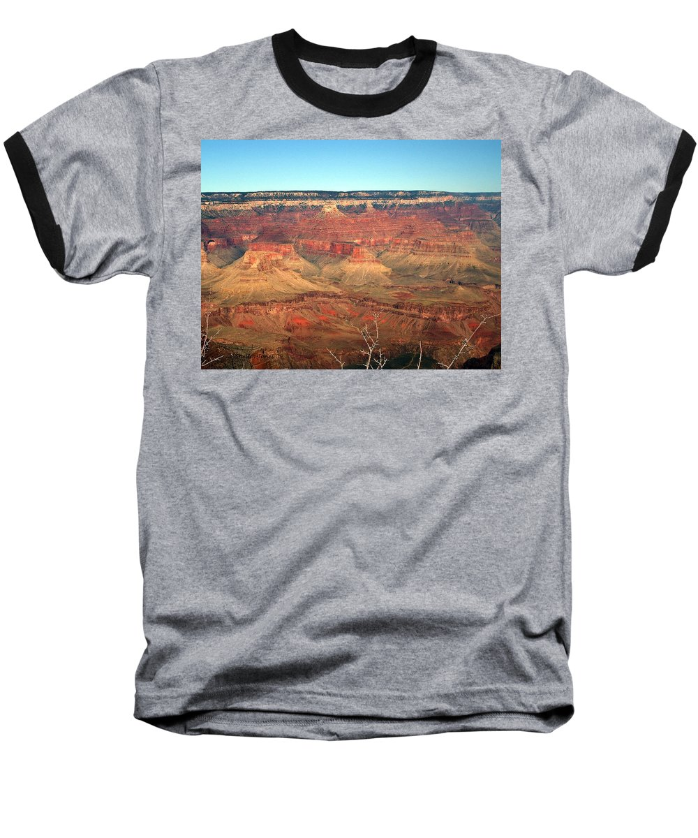 Grand Canyon Baseball T-Shirt featuring the photograph Whata View by Shelley Jones