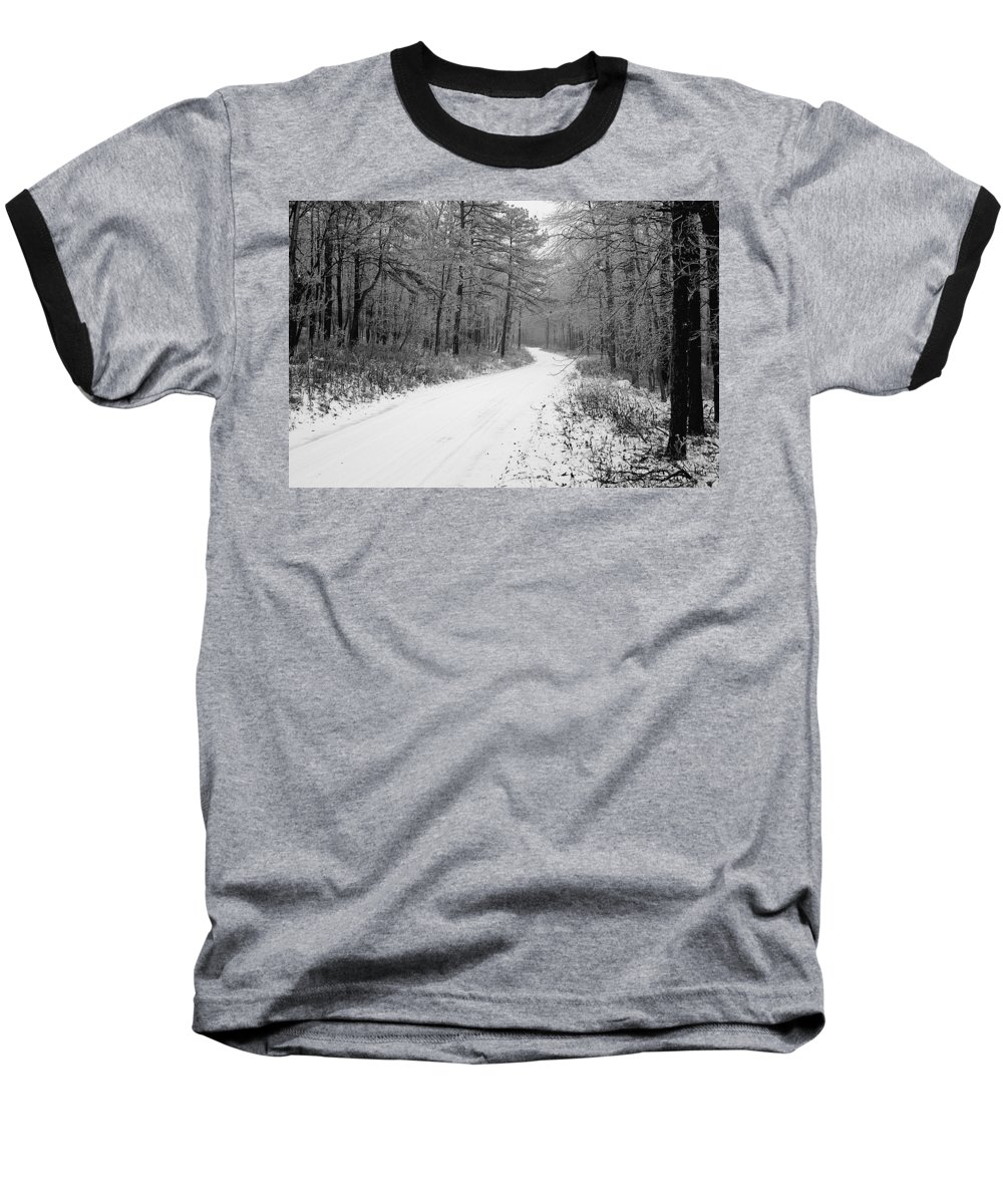 Winter Baseball T-Shirt featuring the photograph Where Will It Lead by Jean Macaluso