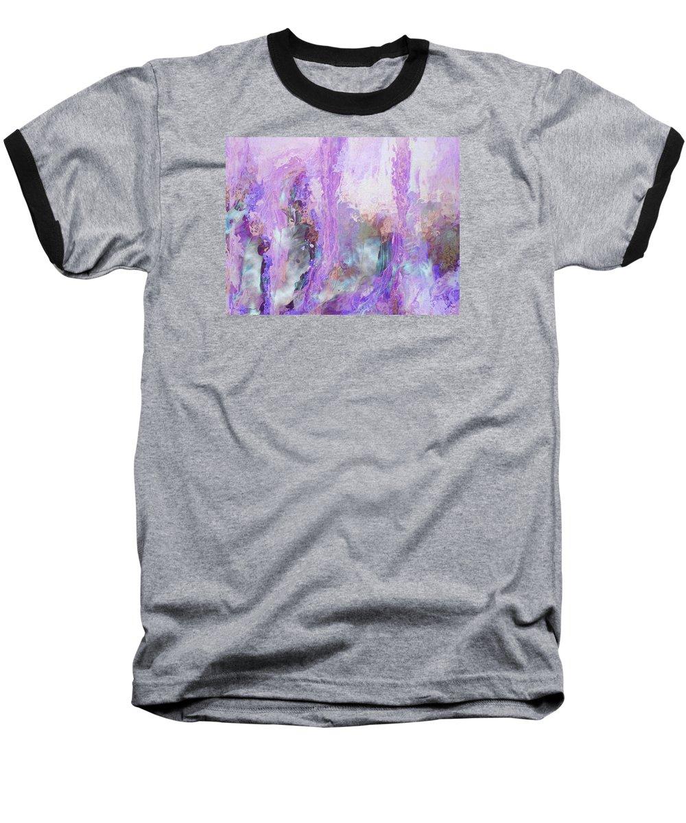 Abstract Art Baseball T-Shirt featuring the digital art Whisper Softly by Linda Murphy