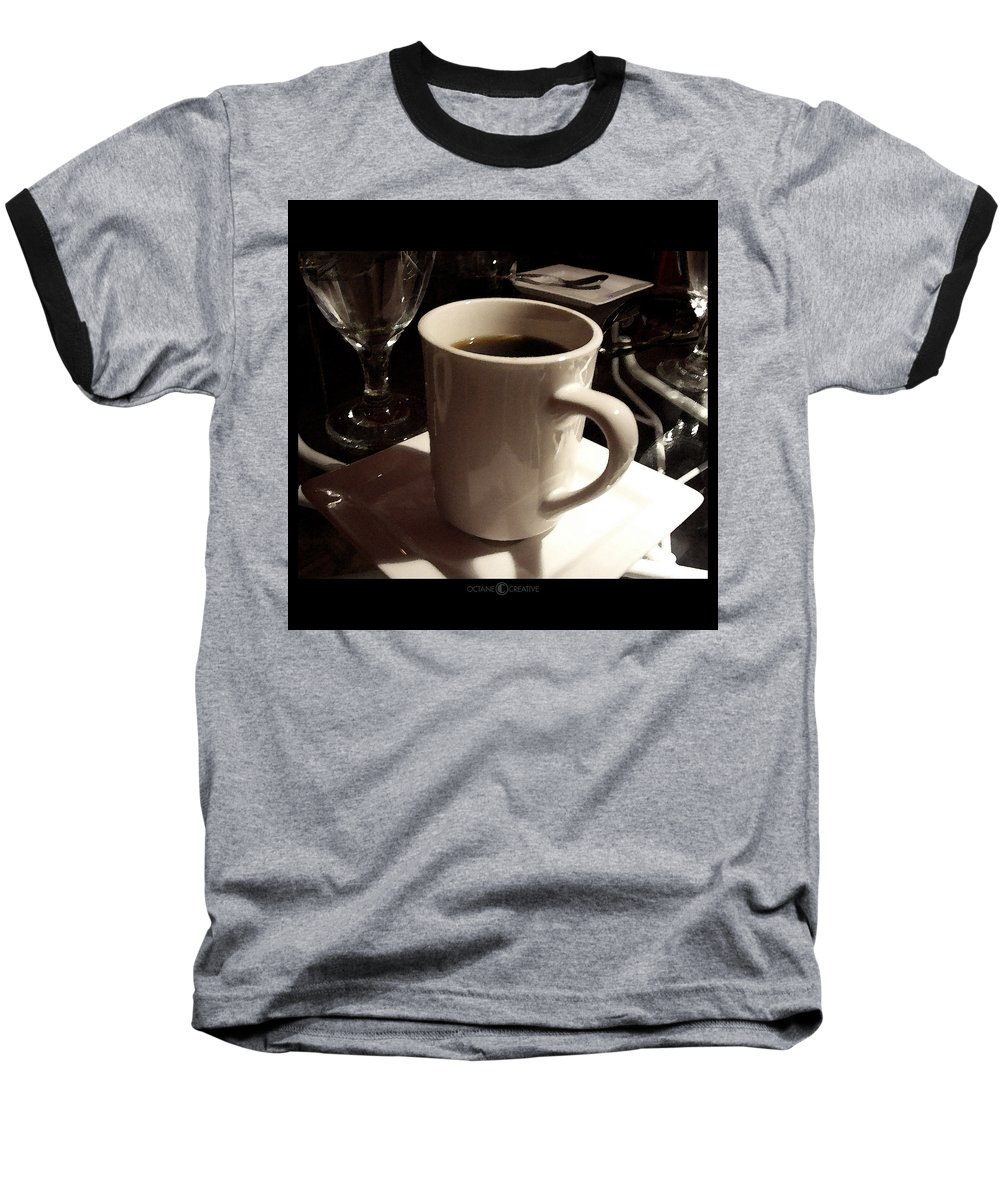 White Baseball T-Shirt featuring the photograph White Cup by Tim Nyberg