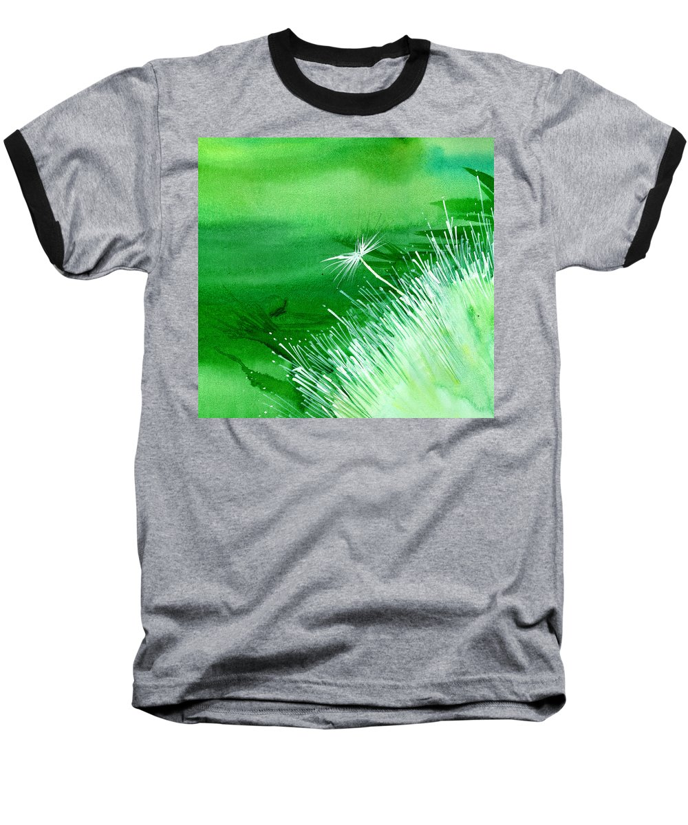 Flowers Baseball T-Shirt featuring the painting White Flower by Anil Nene