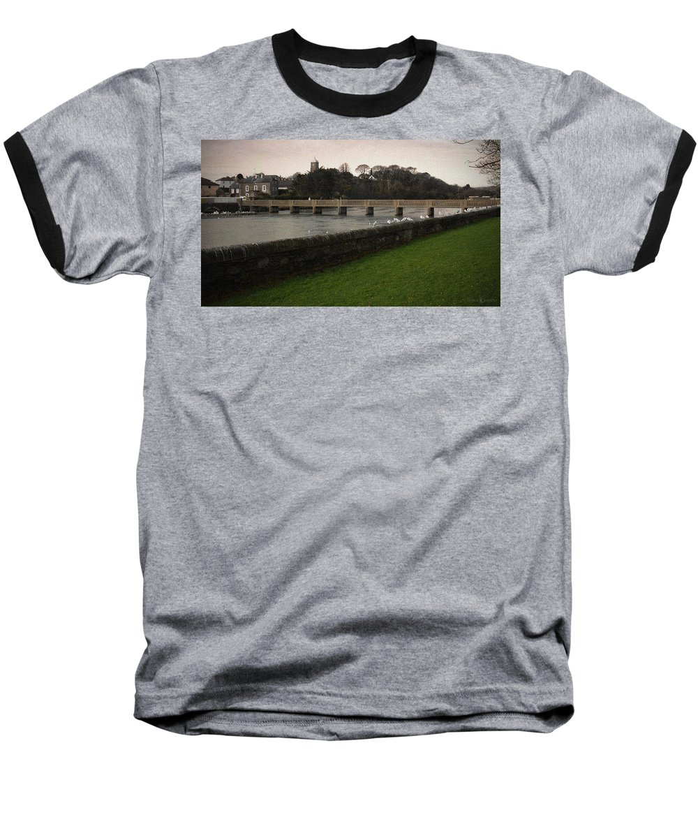 Footbridge Baseball T-Shirt featuring the photograph Wicklow Footbridge by Tim Nyberg