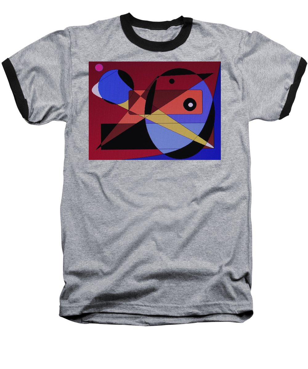 Abstract Bird Baseball T-Shirt featuring the digital art Wild Bird by Ian MacDonald