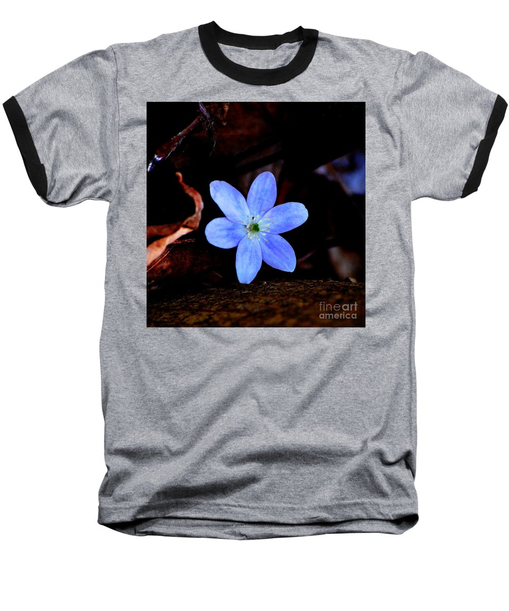 Digital Photo Baseball T-Shirt featuring the photograph Wild Blue by David Lane