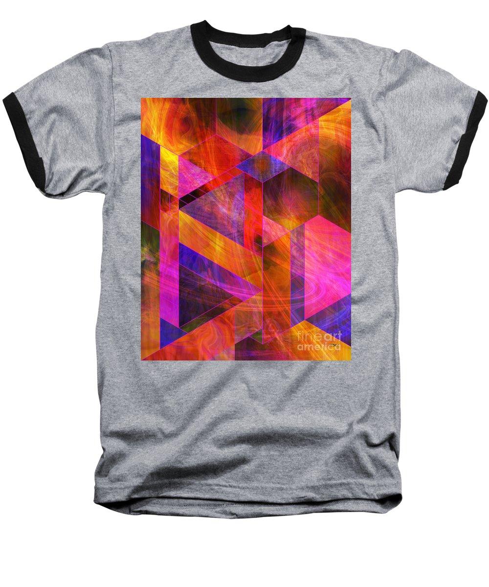 Wild Fire Baseball T-Shirt featuring the digital art Wild Fire by John Beck
