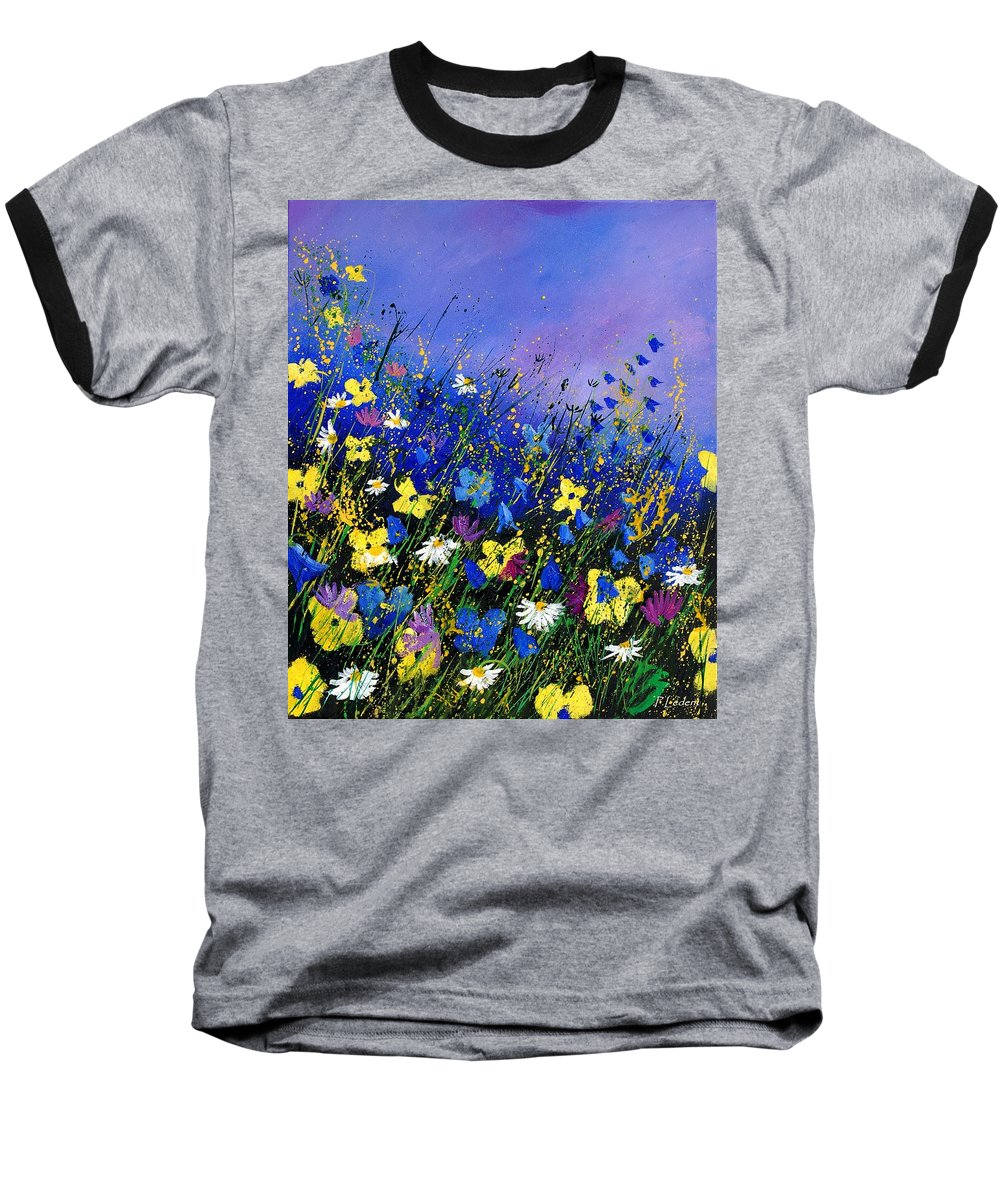 Flowers Baseball T-Shirt featuring the painting Wild Flowers 560908 by Pol Ledent