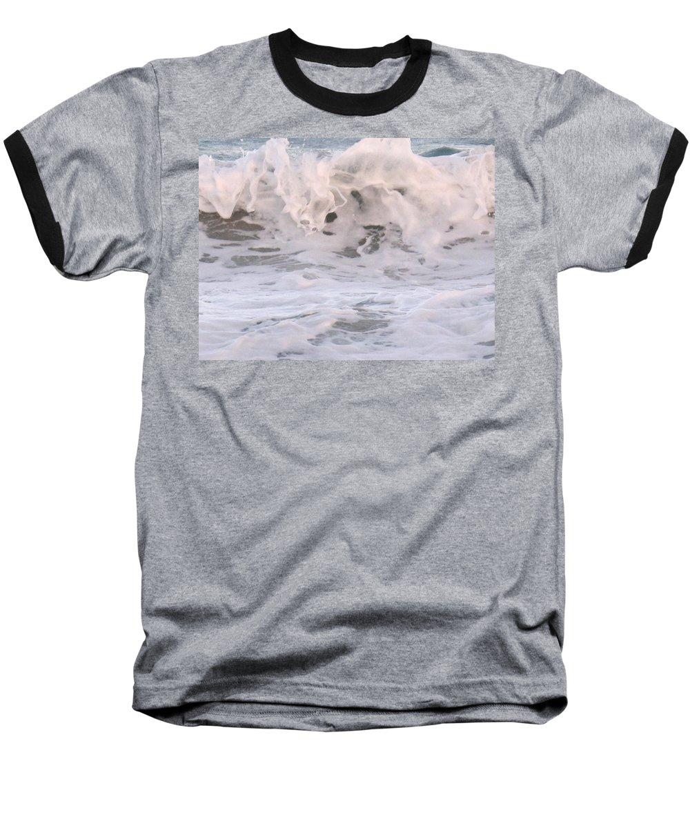 Surf Baseball T-Shirt featuring the photograph Wild Surf by Ian MacDonald