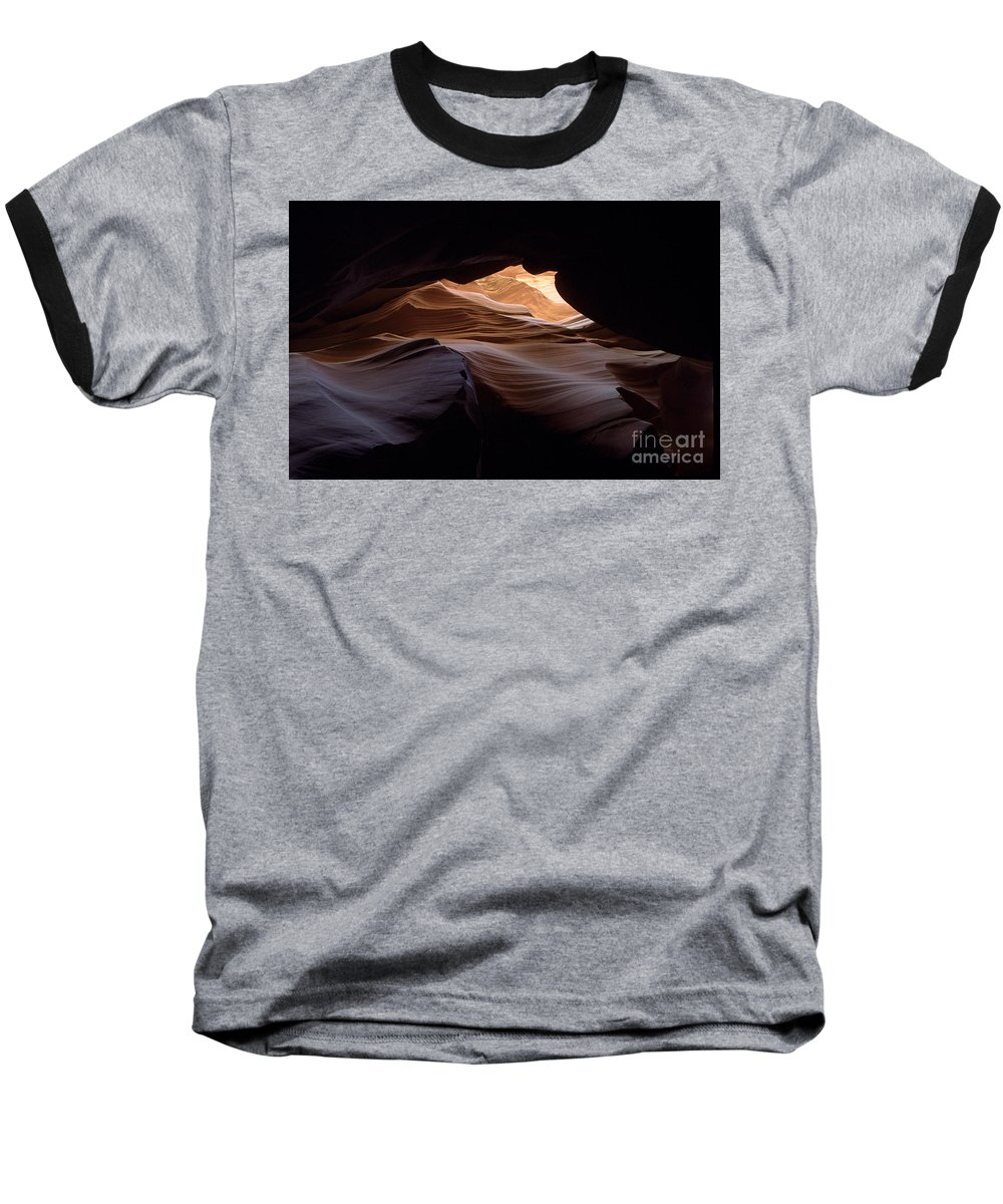 Antelope Canyon Baseball T-Shirt featuring the photograph Wind And Water by Kathy McClure