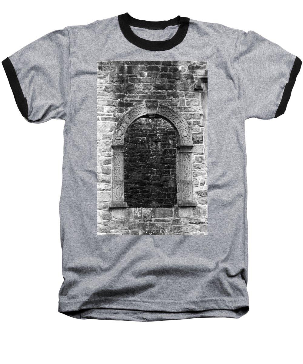Irish Baseball T-Shirt featuring the photograph Window At Donegal Castle Ireland by Teresa Mucha