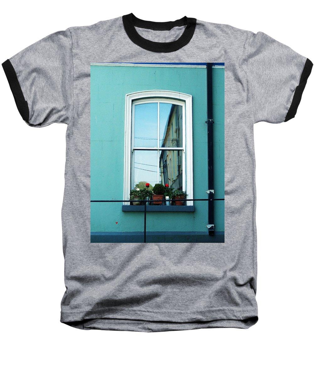 Irish Baseball T-Shirt featuring the photograph Window In Ennistymon Ireland by Teresa Mucha