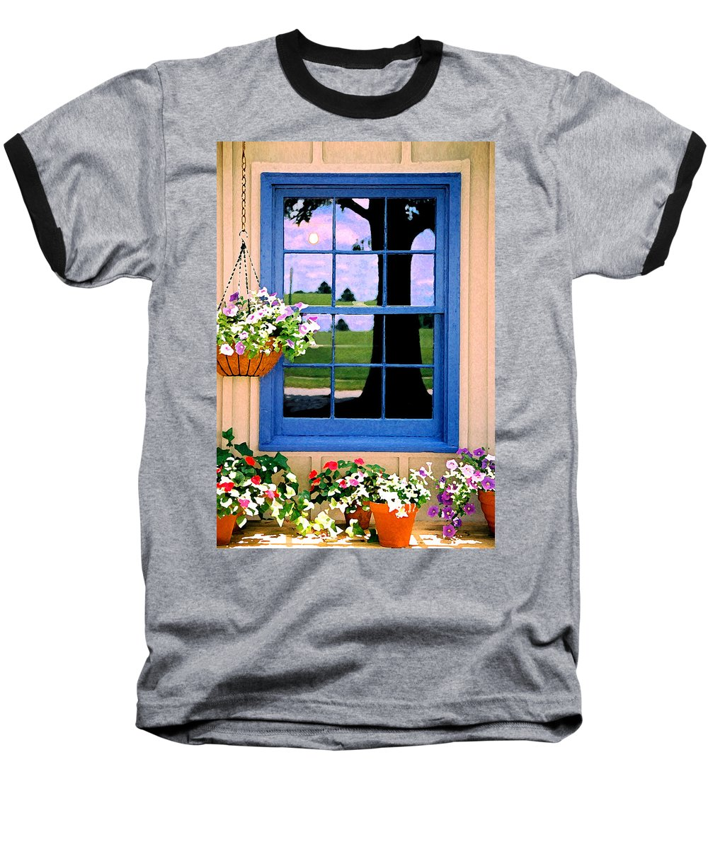 Still Life Baseball T-Shirt featuring the photograph Window by Steve Karol