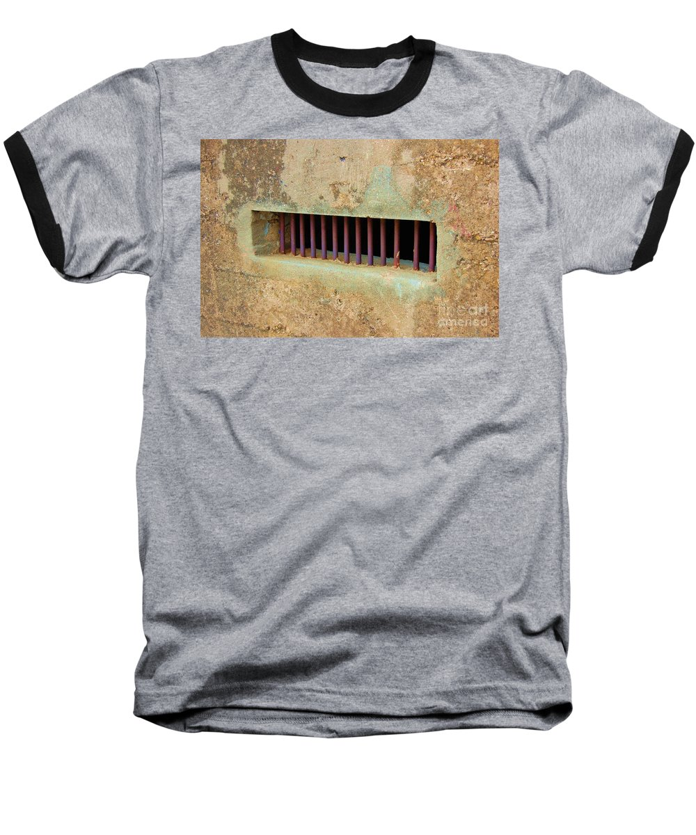 Jail Baseball T-Shirt featuring the photograph Window To The World by Debbi Granruth