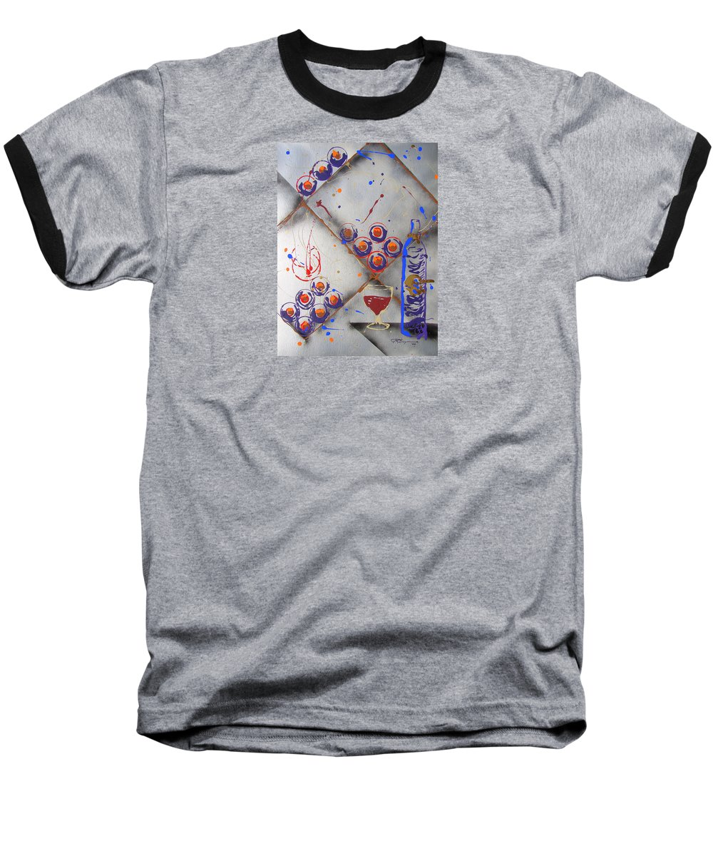 Impressionist Painting Baseball T-Shirt featuring the painting Wine Connoisseur by J R Seymour