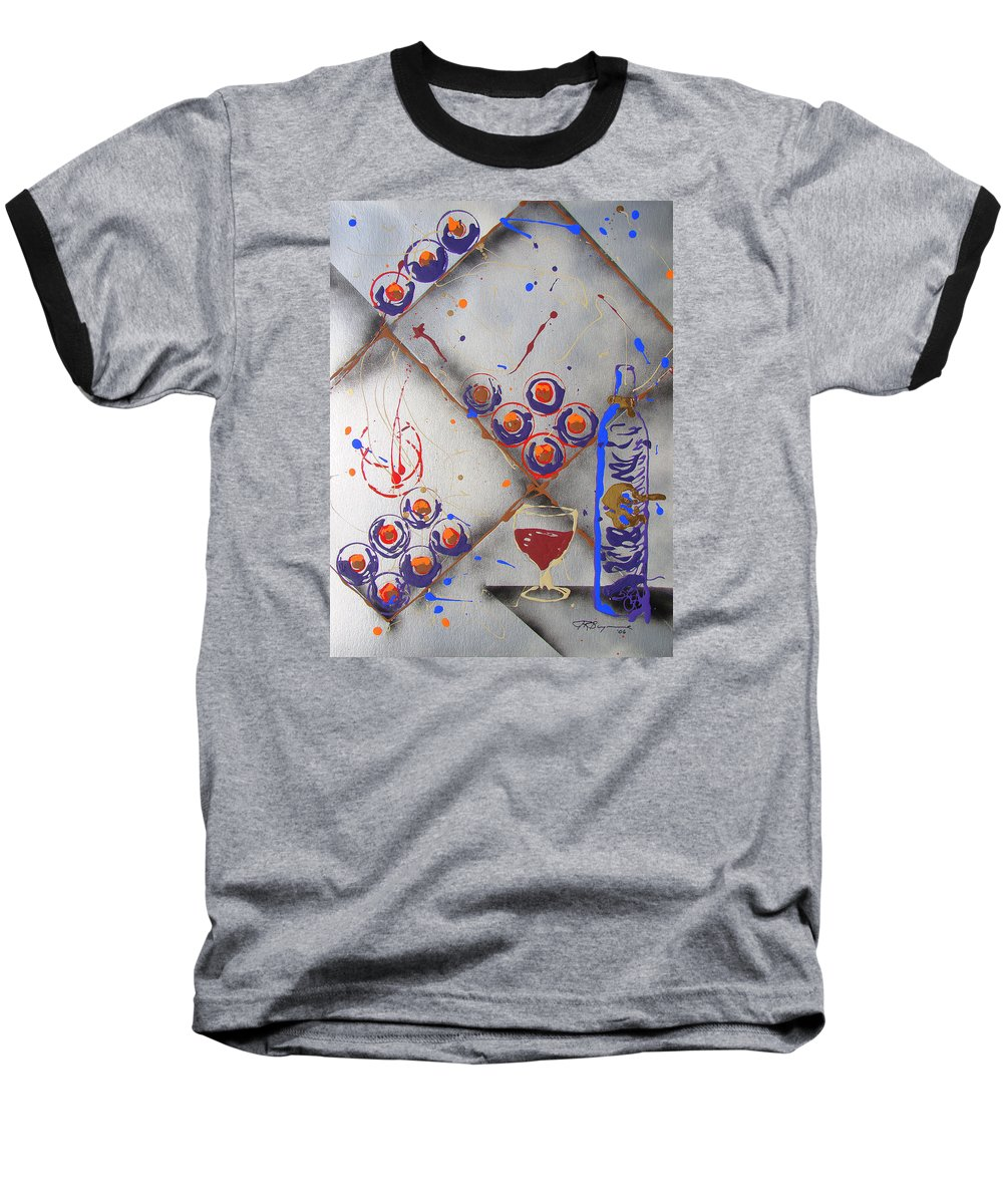 Wine Baseball T-Shirt featuring the painting Wine Connoisseur by J R Seymour