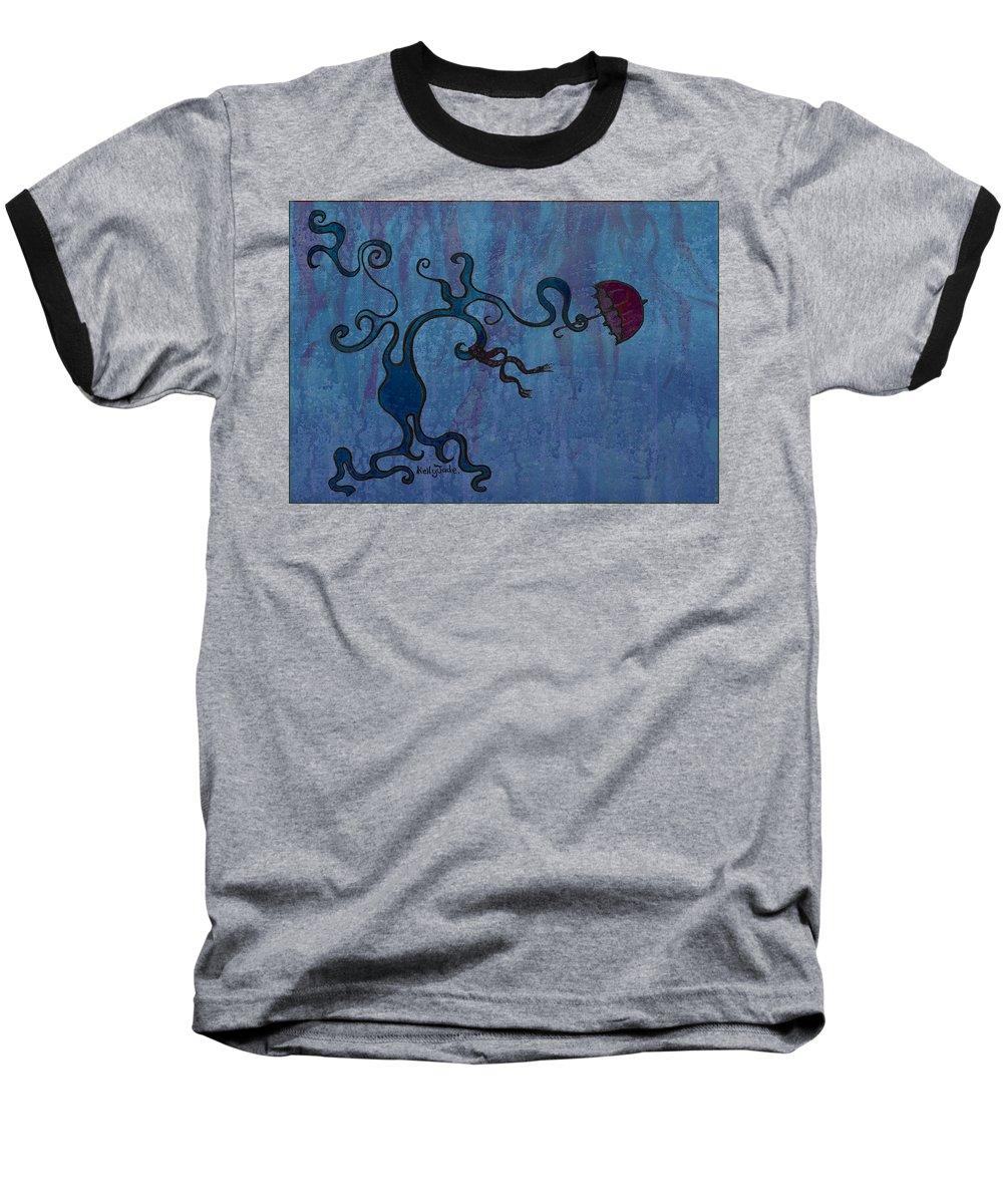 Tree Baseball T-Shirt featuring the digital art Winter by Kelly Jade King
