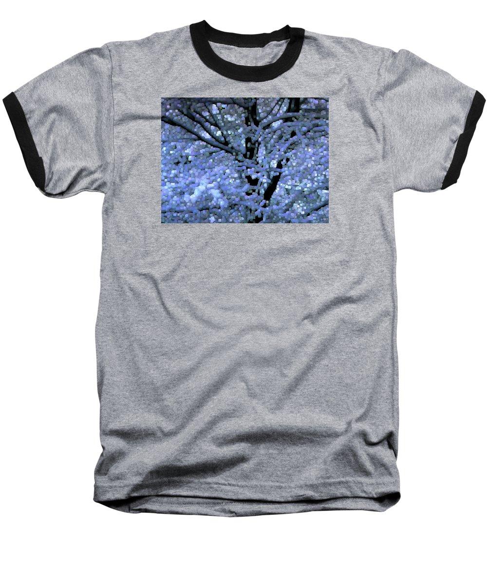 Abstract Baseball T-Shirt featuring the digital art Winter Light by Dave Martsolf