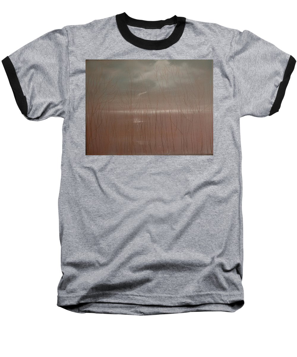 Dusk Baseball T-Shirt featuring the painting Winter Of Hope by Jack Diamond