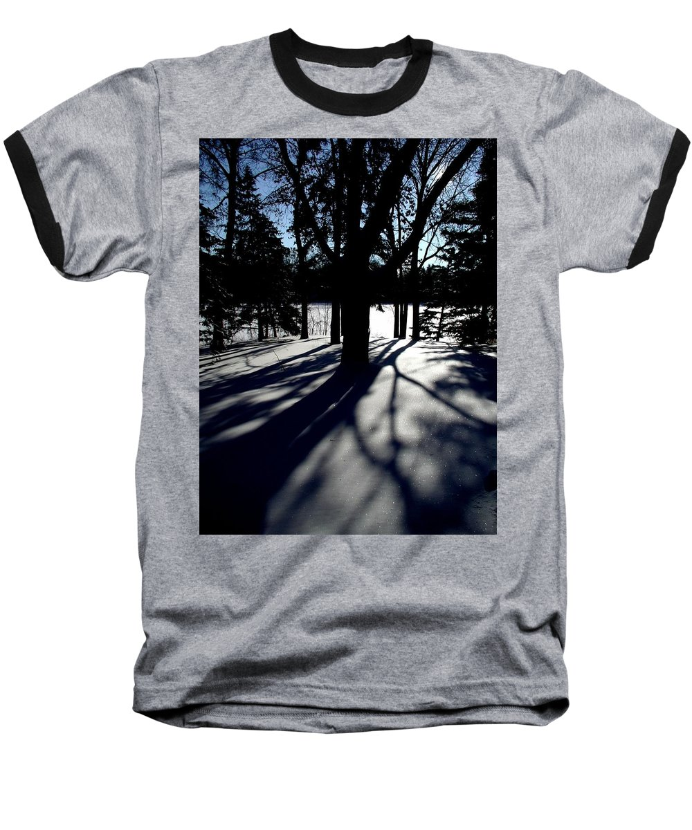 Landscape Baseball T-Shirt featuring the photograph Winter Shadows 2 by Tom Reynen