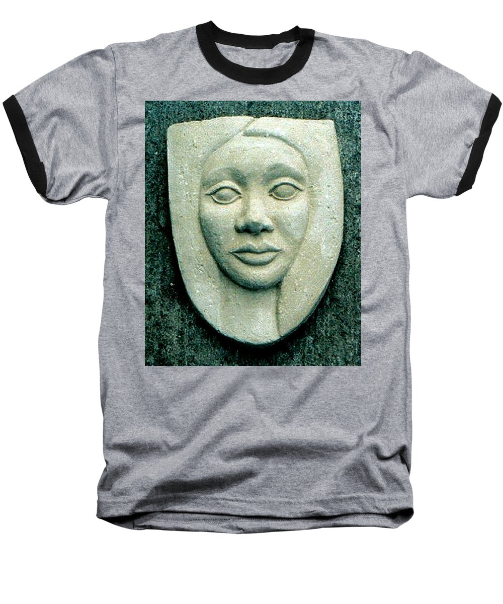 Relief Baseball T-Shirt featuring the relief Without Veils by Madalena Lobao-Tello