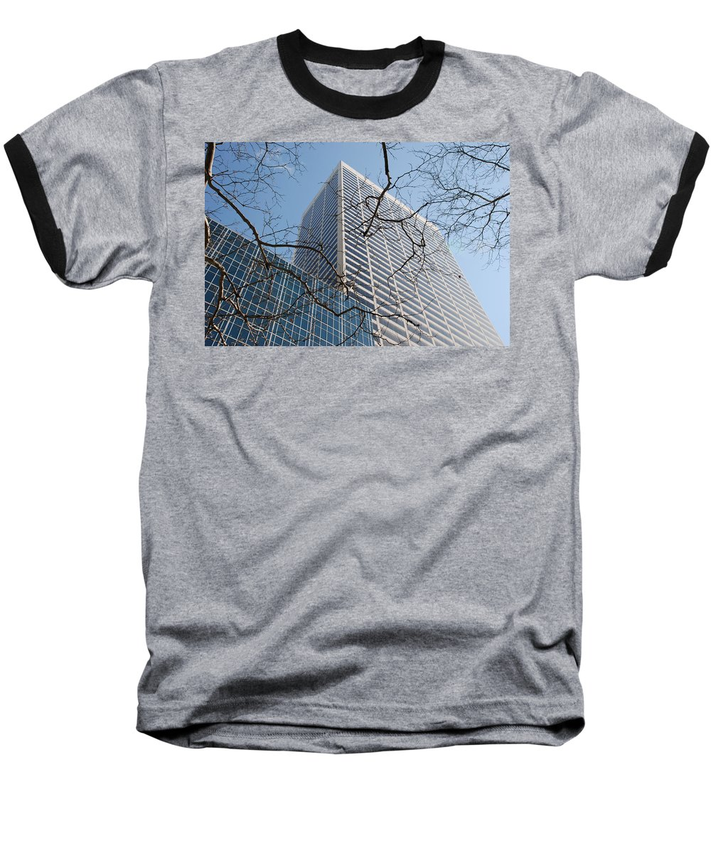 Architecture Baseball T-Shirt featuring the photograph Wood And Glass by Rob Hans