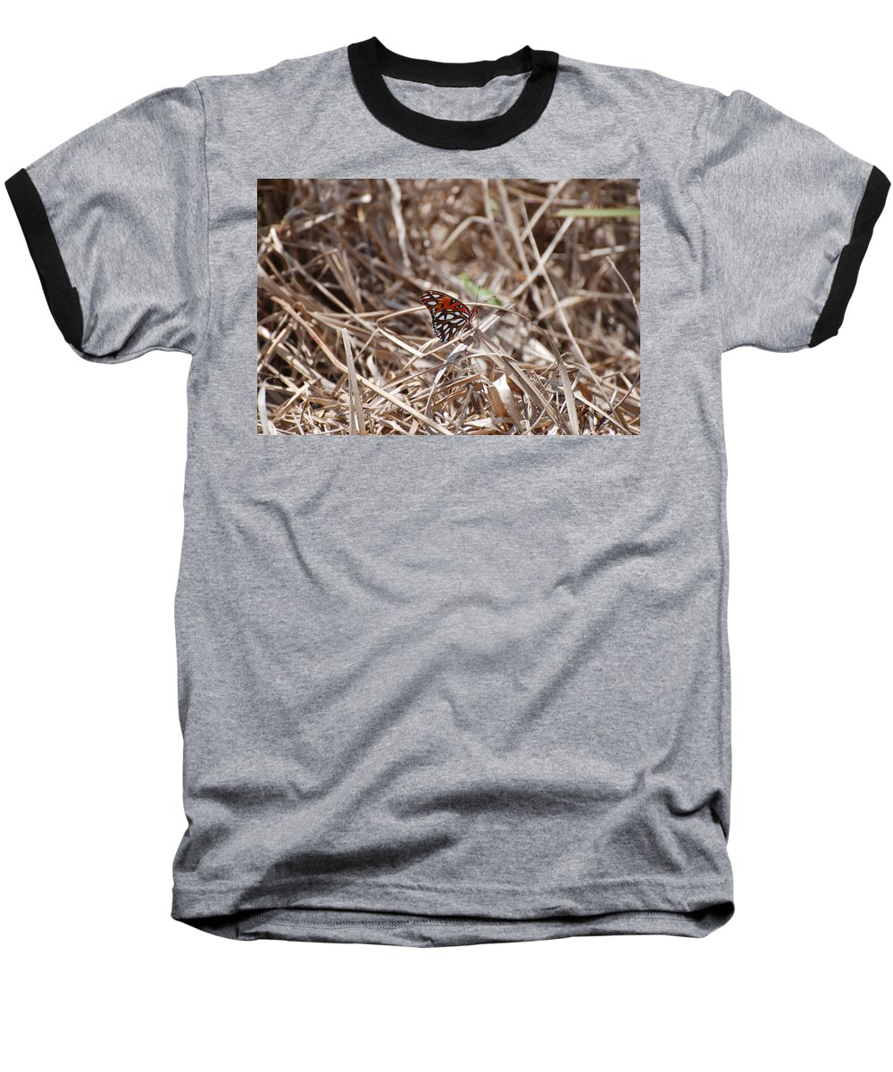 Butterfly Baseball T-Shirt featuring the photograph Wooden Butterfly by Rob Hans