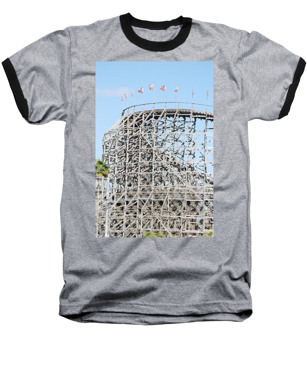 Pop Art Baseball T-Shirt featuring the photograph Wooden Coaster by Rob Hans