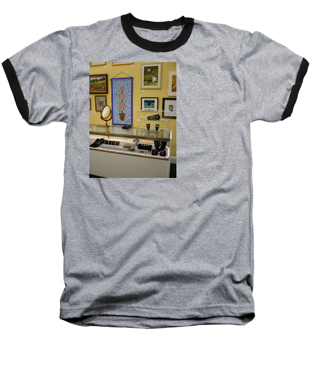 Oil Baseball T-Shirt featuring the painting World-view by Sergey Ignatenko