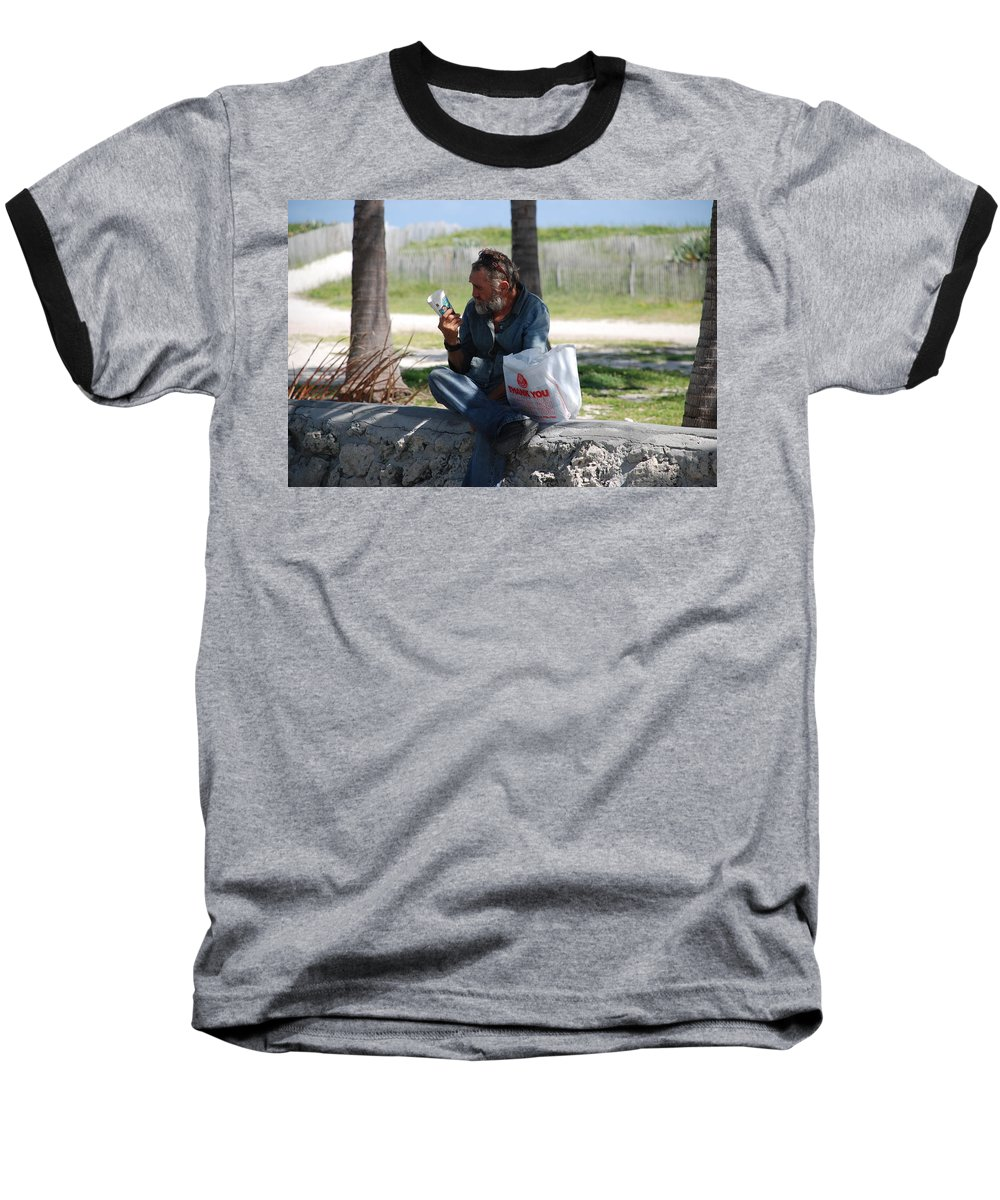 Man Baseball T-Shirt featuring the photograph Worldly Posessions by Rob Hans