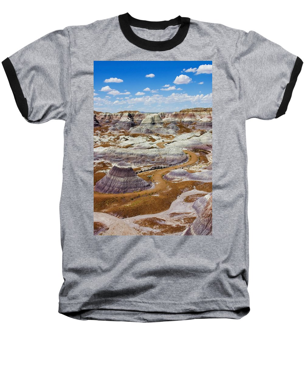 Painted Desert Baseball T-Shirt featuring the photograph Yea Though I Walk by Skip Hunt