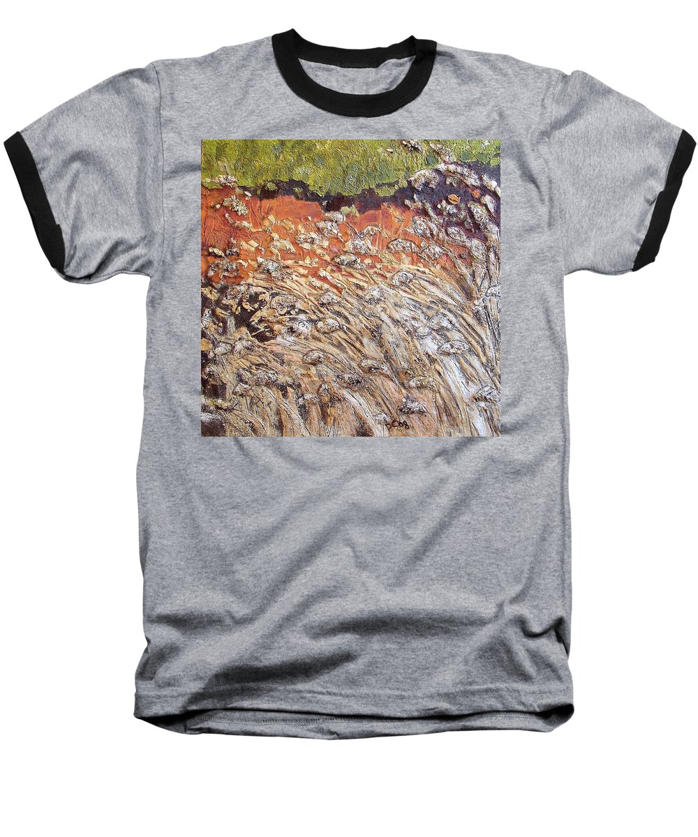 Abstract Baseball T-Shirt featuring the painting Yearning by Piety Choi