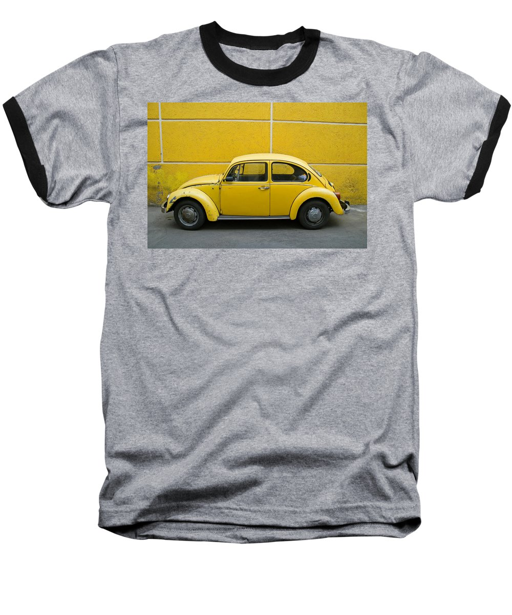 Yellow Baseball T-Shirt featuring the photograph Yellow Bug by Skip Hunt