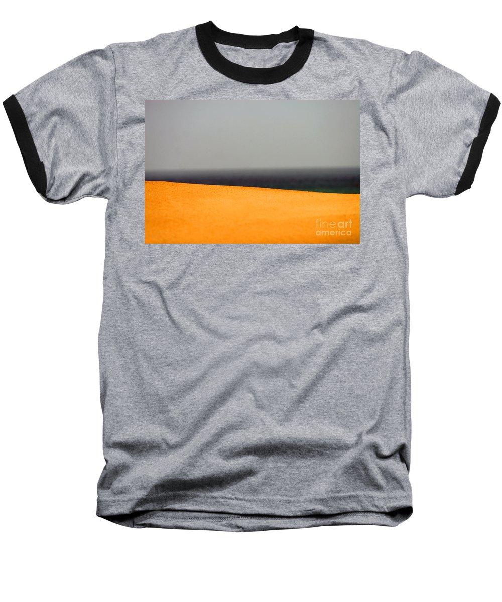 Yellow Baseball T-Shirt featuring the photograph Yellow Horizon by Hana Shalom