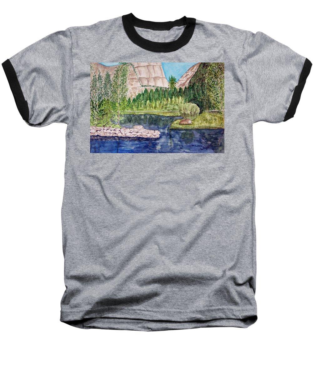 Yosemite National Park Baseball T-Shirt featuring the painting Yosemite by Larry Wright