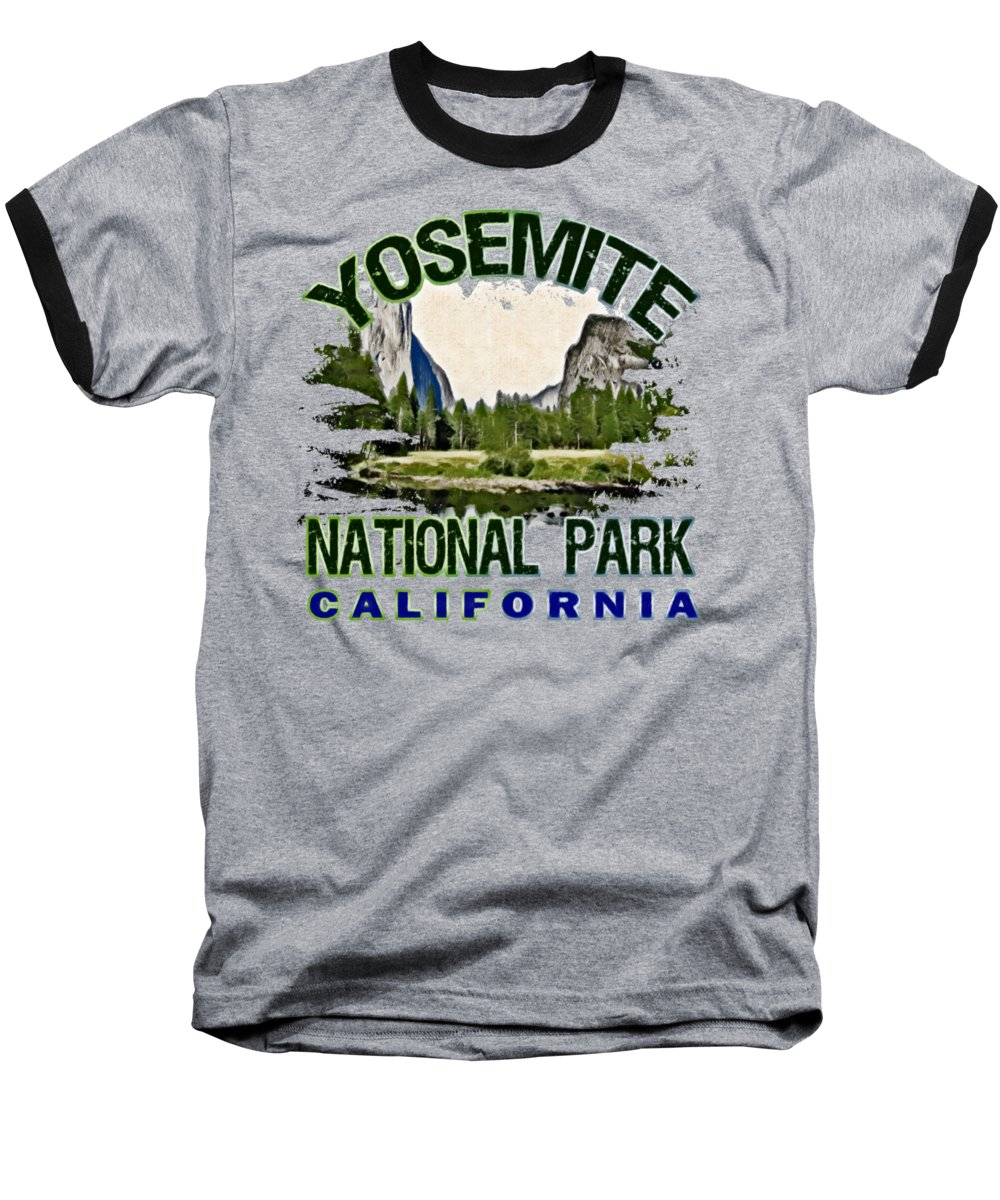 Yosemite National Park Baseball T-Shirts