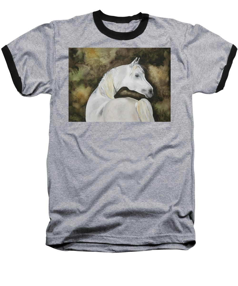 Horse Baseball T-Shirt featuring the painting You Talking To Me by Jean Blackmer