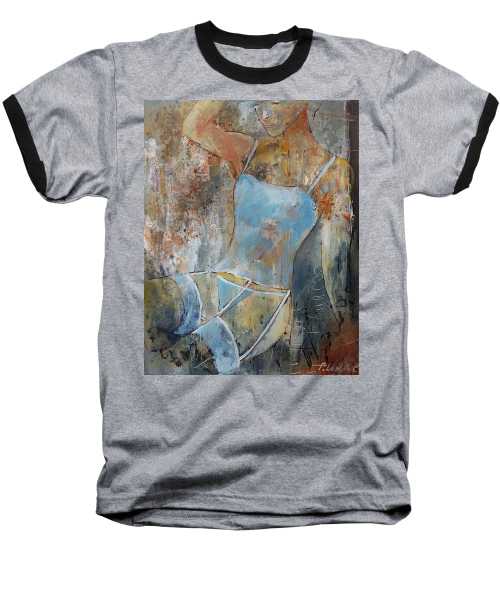 Nude Baseball T-Shirt featuring the painting Young Girl 451108 by Pol Ledent