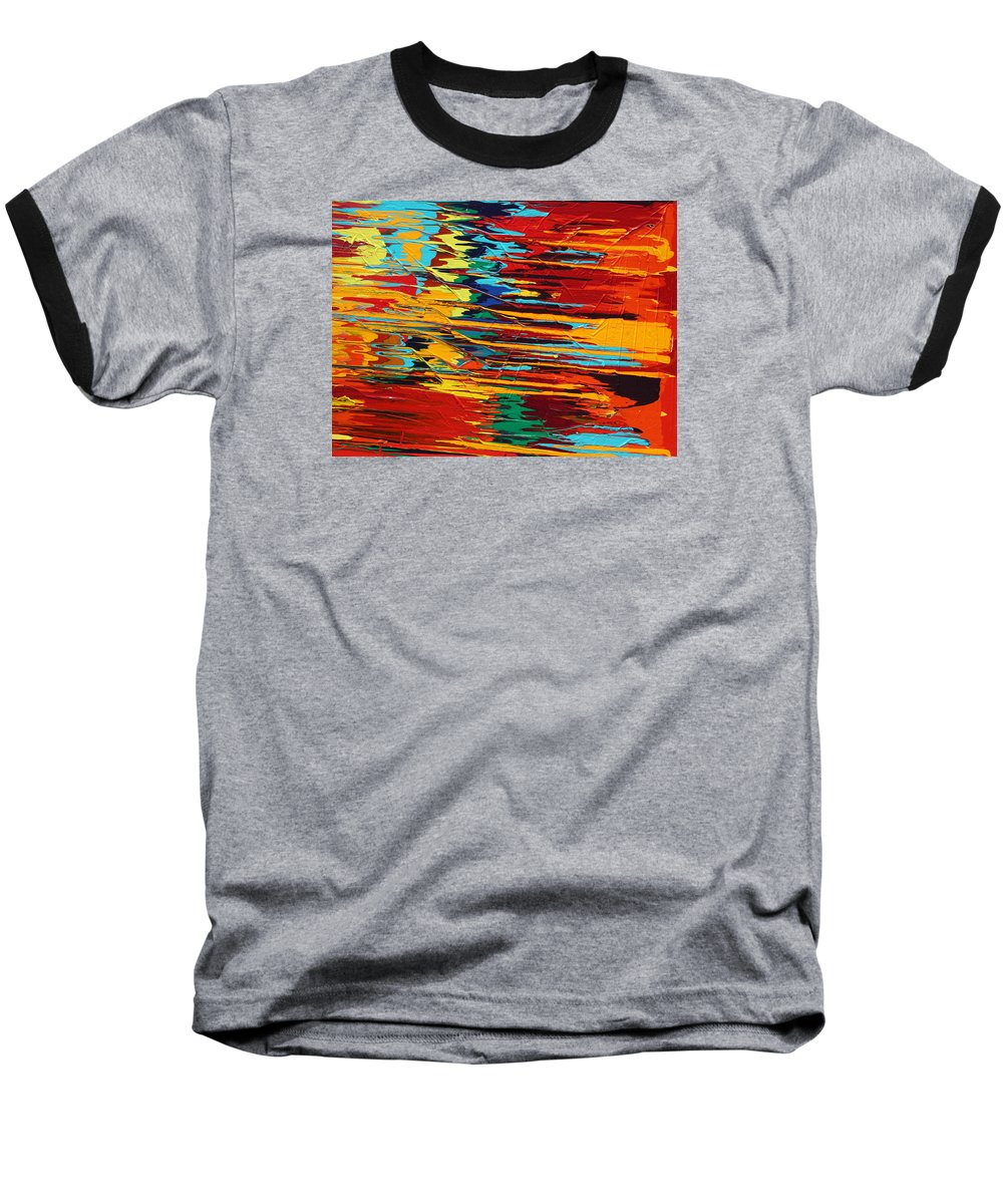 Fusionart Baseball T-Shirt featuring the painting Zap by Ralph White