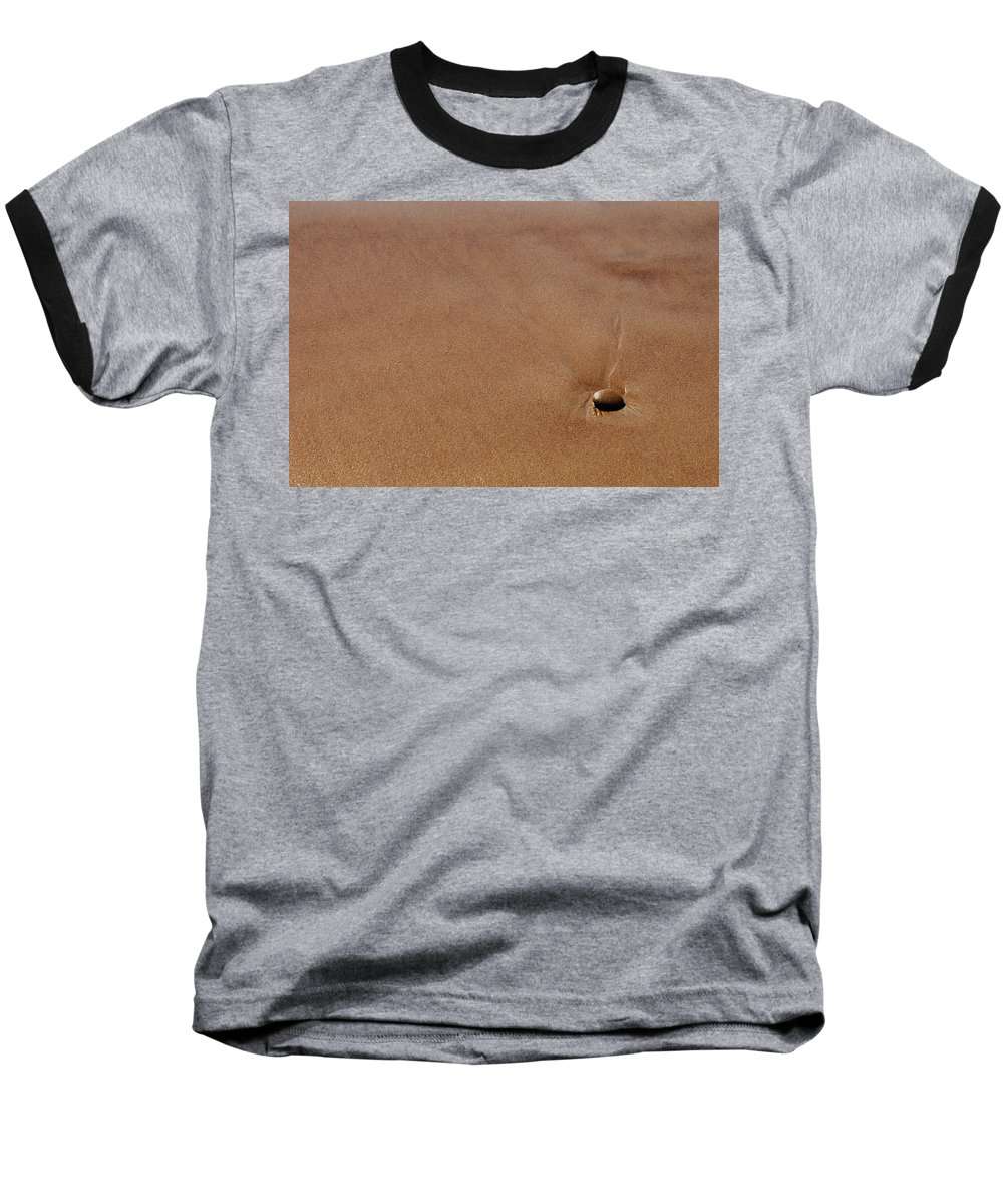 Clay Baseball T-Shirt featuring the photograph Zen At The Beach by Clayton Bruster