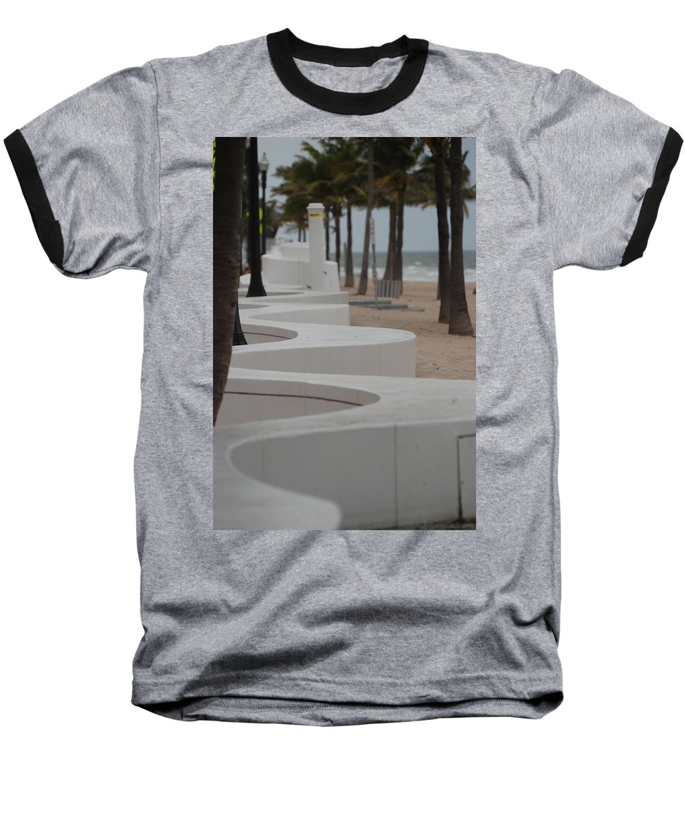 Pop Art Baseball T-Shirt featuring the photograph Zig Zag At The Beach by Rob Hans