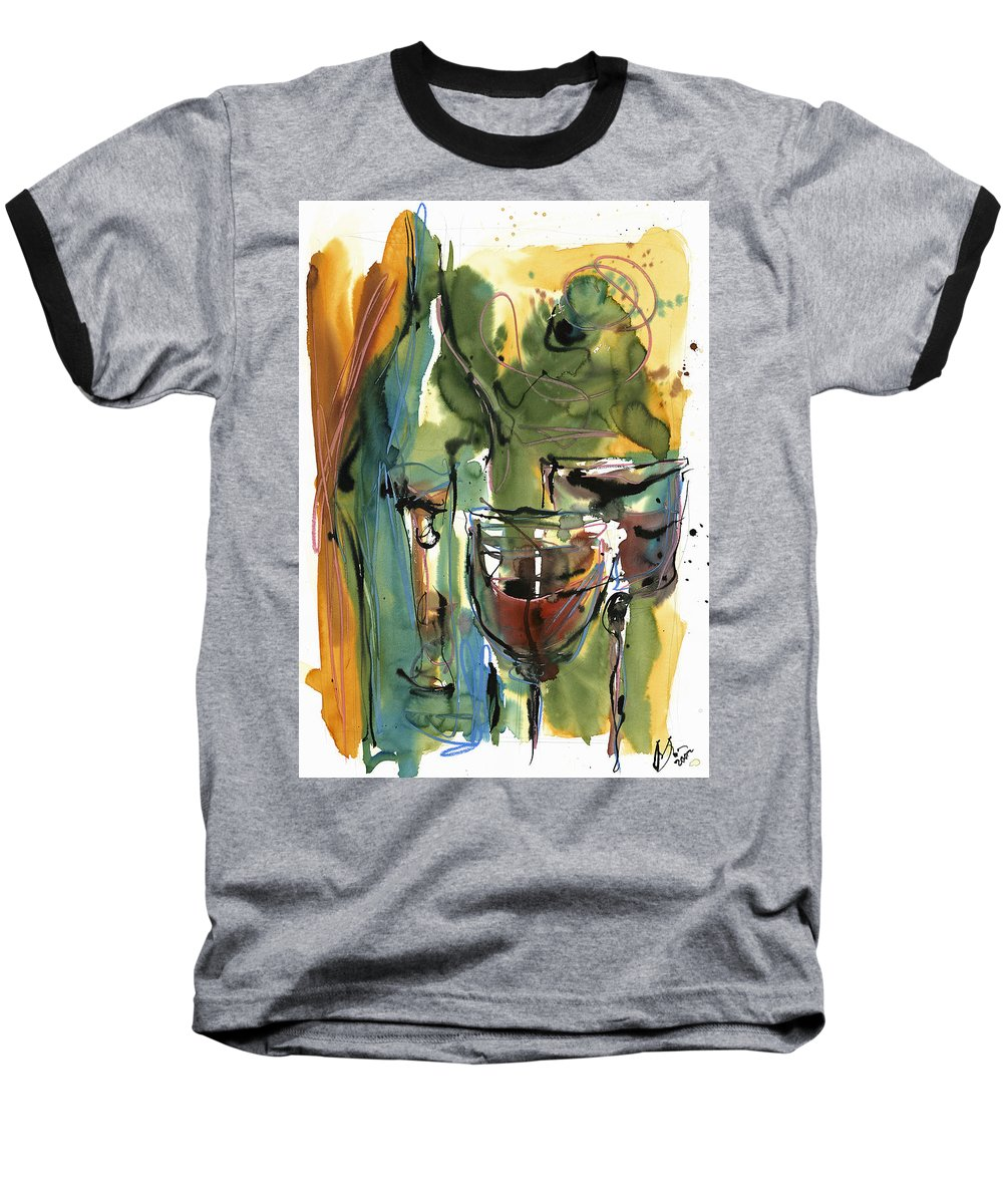 Wine Baseball T-Shirt featuring the painting Zin-findel by Robert Joyner