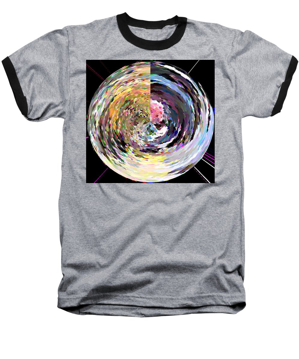 Digital Baseball T-Shirt featuring the painting Zing by Anil Nene