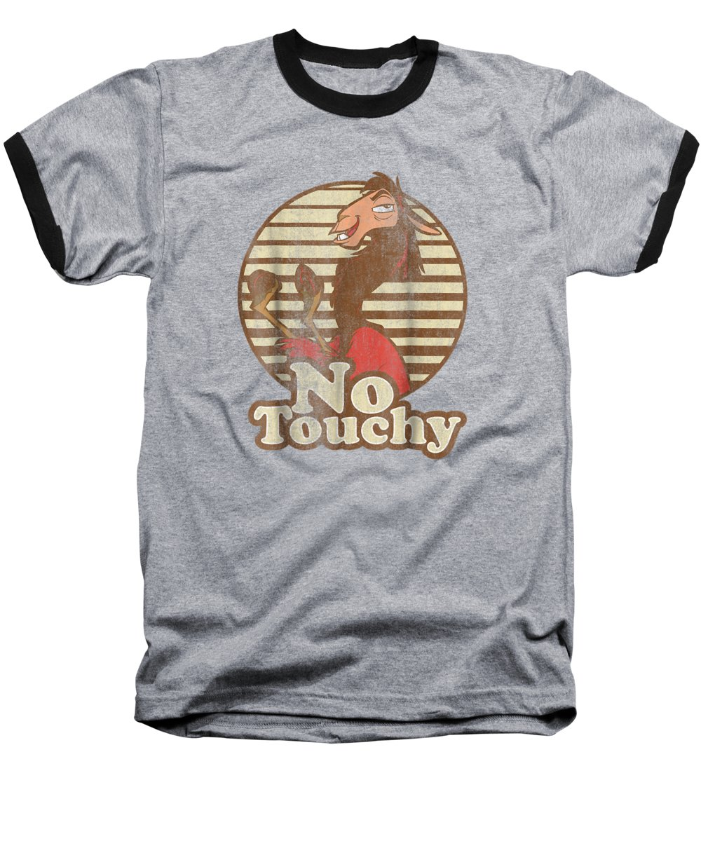 women's Shops Baseball T-Shirt featuring the digital art Disney Emperor's New Groove Kuzco Llama No Touchy T-shirt by Unique Tees