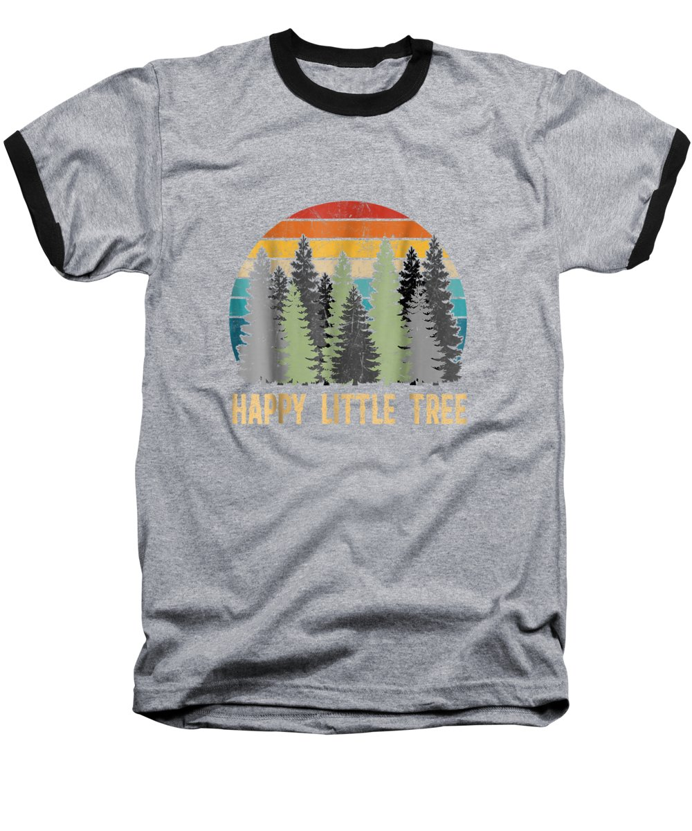 girls' Novelty T-shirts Baseball T-Shirt featuring the digital art Happy Little Tree T-shirts by Unique Tees